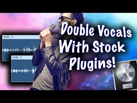 How To Double A Vocal With One Track! (Logic Pro X Stock Plugins!)