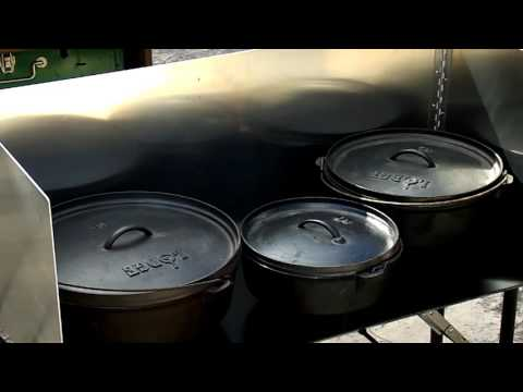 Dutch Oven Cooking Table Texas Style Cuisine