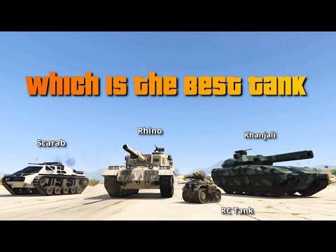 GTA V Which is the Best Tank  Rhino Khanjali Scarab or I&P Tank