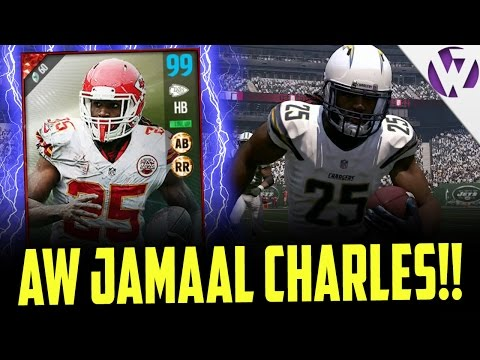 99 OVERALL AWARD WINNERS JAMAAL CHARLES IS NASTY!! - MADDEN 17 AWARD WINNERS JAMAAL CHARLES GAMEPLAY