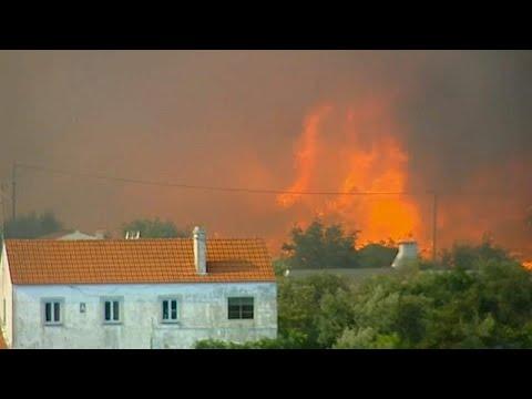 فيديو: موجة الحر تحرق غابات البرتغال وألف من رجال الإطفاء يحاولون إخماد النيران …  - نشر قبل 2 ساعة