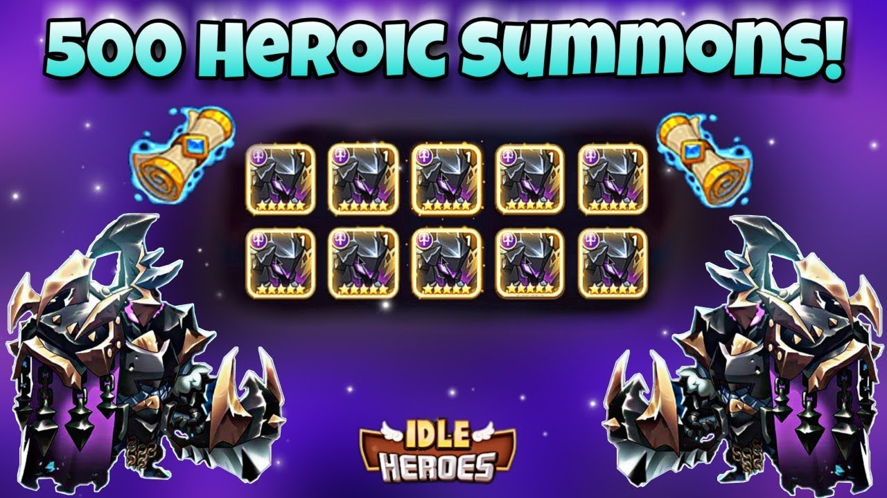 Idle Heroes (O+) - 500 Heroic Summons! - New Dark Hero Event