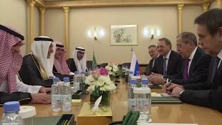 С.Лавров и И.Аль-Ассаф, Эр-Рияд, 5 марта 2019 года