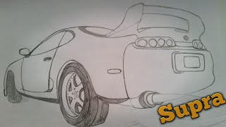 How To Draw Toyota Supra (The EASY Way)