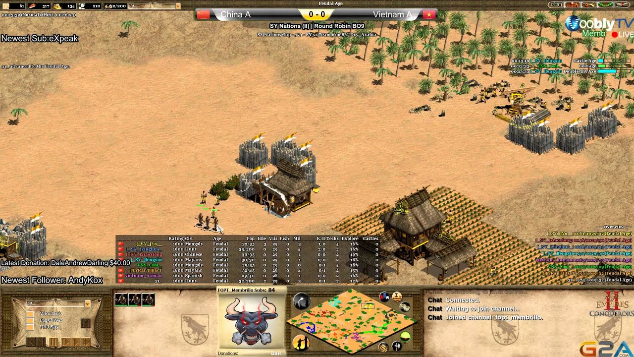 Age of Empires 2 NC II Round Robin China A vs Vietnam A Game 1