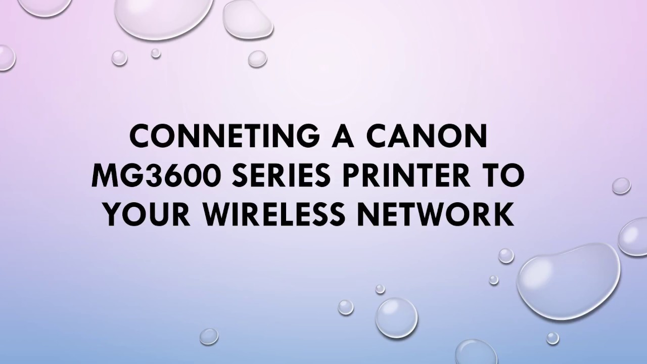 How to connect a Canon MG20 series printer to your WIFI
