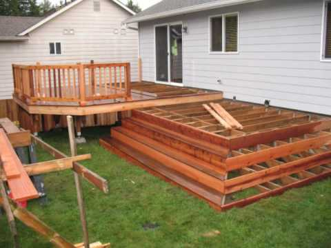 How to build a custom wood deck deck replacement video for Custom deck plans