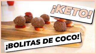 ¡POSTRE SALUDABLE KETO SIN AZÚCAR! Bolitas de Coco
