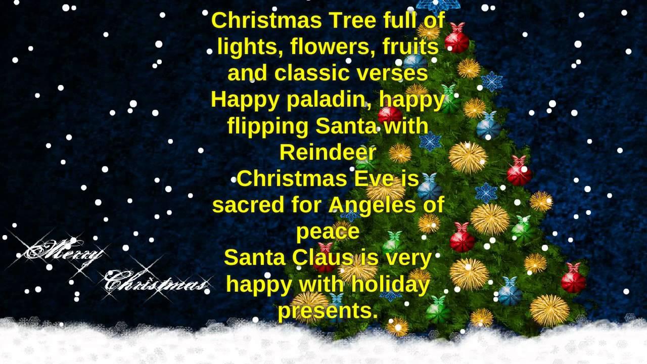 Poemas De Navidad Cortos En Ingles Poema Navideño En Ingles Youtube