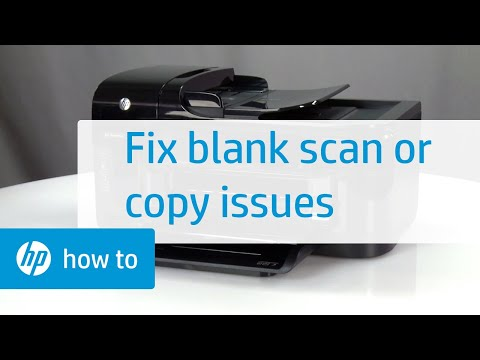 Resolving Issues That Cause Blank Scans or Copies   HP