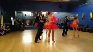 Salsa Dance Performance At Trilliant Studios - Salsa Mania