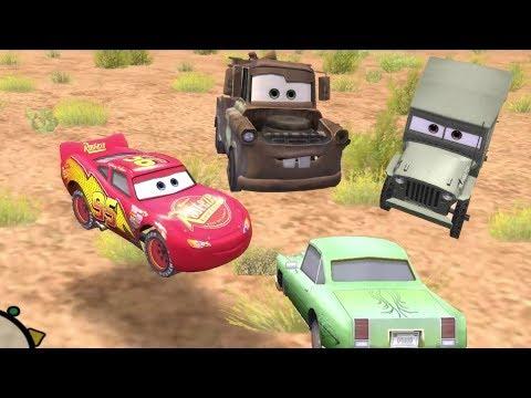 Disney Pixars Cars Movie Game - Crash Mcqueen 154 - Skipping Around With Sarge