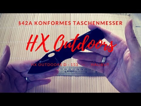 HX Outdoors| Bastard Halibut| §42a Konformes Taschenmesser |Slip Joint| D2 Stahl #122