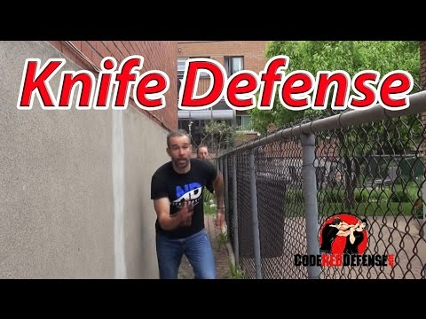 Knife Defense in a Confined Space