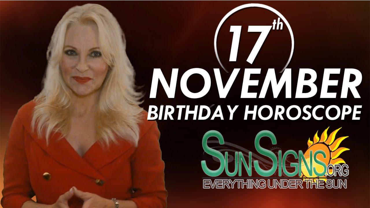 birthday horoscope 17 november