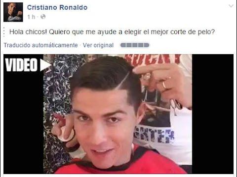 Cristiano ronaldo pide ayuda para elegir su corte de for Nuevo peinado de cristiano
