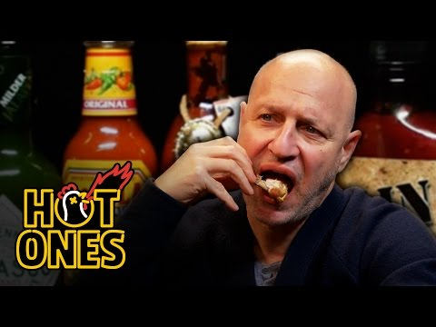 Tom Colicchio Goes Full Top Chef on Some Spicy Wings  Hot Ones