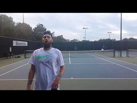 Tennis practice - unedited private tennis lesson w/ a UTR 13 player