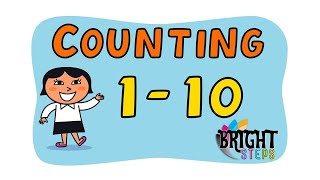 1 to 10 Counting - Maths || PlaySchool || English Kids Online Education Video 2020 || Bright Steps