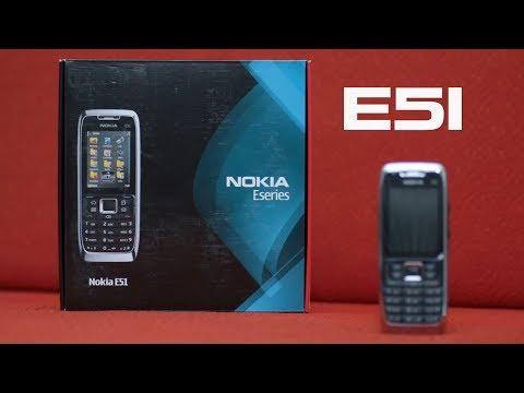 Nokia E51 unboxing