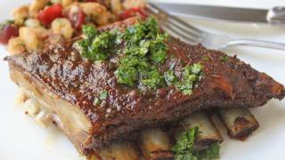 Roasted Lamb Breast Recipe - Beautiful Breast Of Lamb With Honey Parsley Vinegar