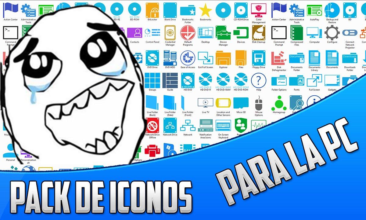 Descargar pack de iconos para windows 8 8 1 10 youtube - Iconos para escritorio windows ...