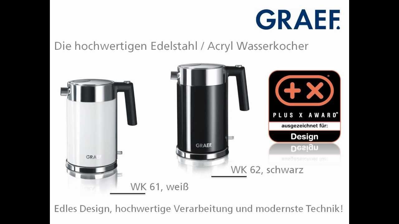 Graef Wasserkocher WK 61 & WK 62  YouTube