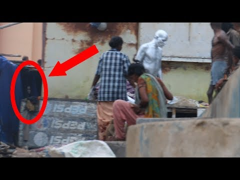 Real Ghost Video caught on Camera in Indian slum area
