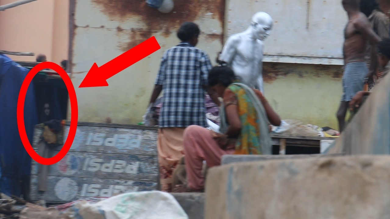 real ghost video caught on camera in indian slum area - youtube