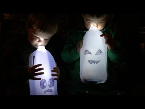 kids halloween craft diy cute ghosts using milk jugs