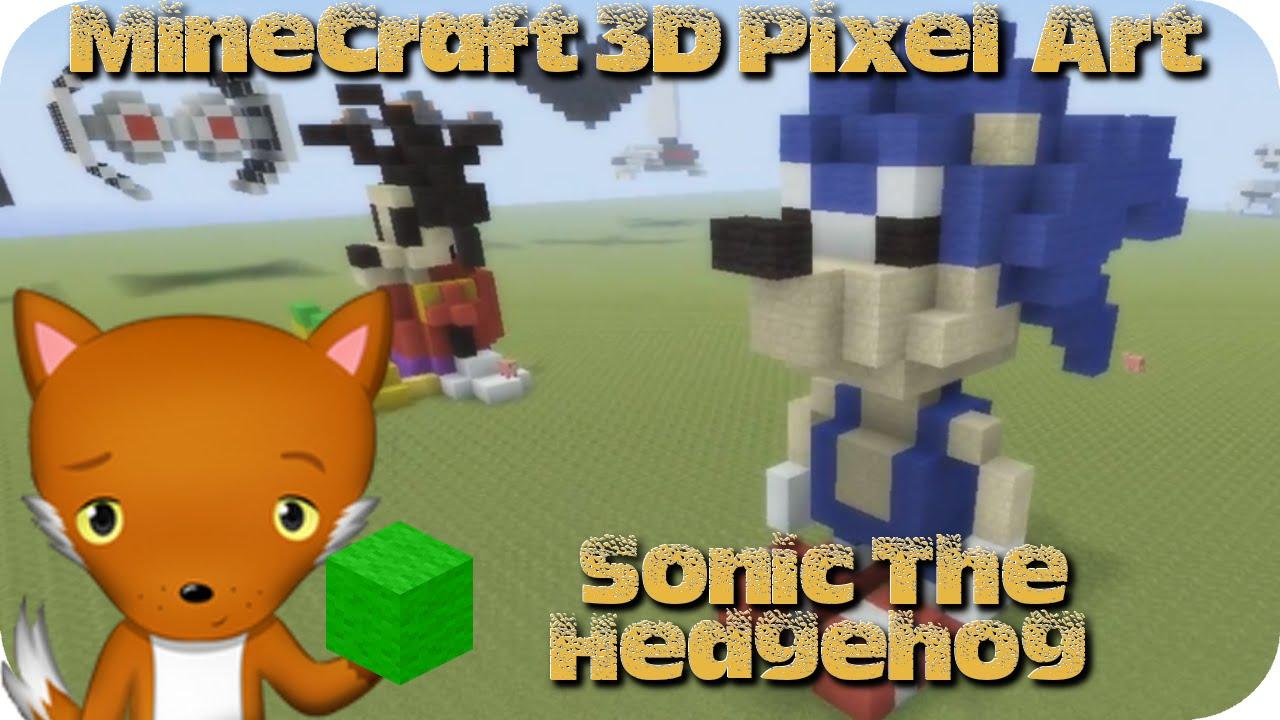Minecraft 3d Pixel Art Tutorial Sonic The Hedgehog Youtube