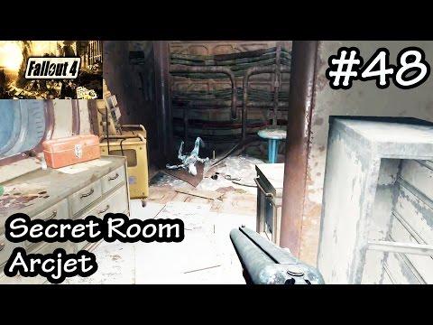 Fallout 4 - Secret Room Arcjet - Frying Danse With Rocket Engine - Walkthrough Let's Play Part 48