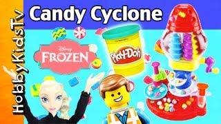 PLAY-DOH Candy Cyclone Set! FROZEN Elsa, Anna, Minion Help! Rex Eats! [Box Opening] [Toy Review]