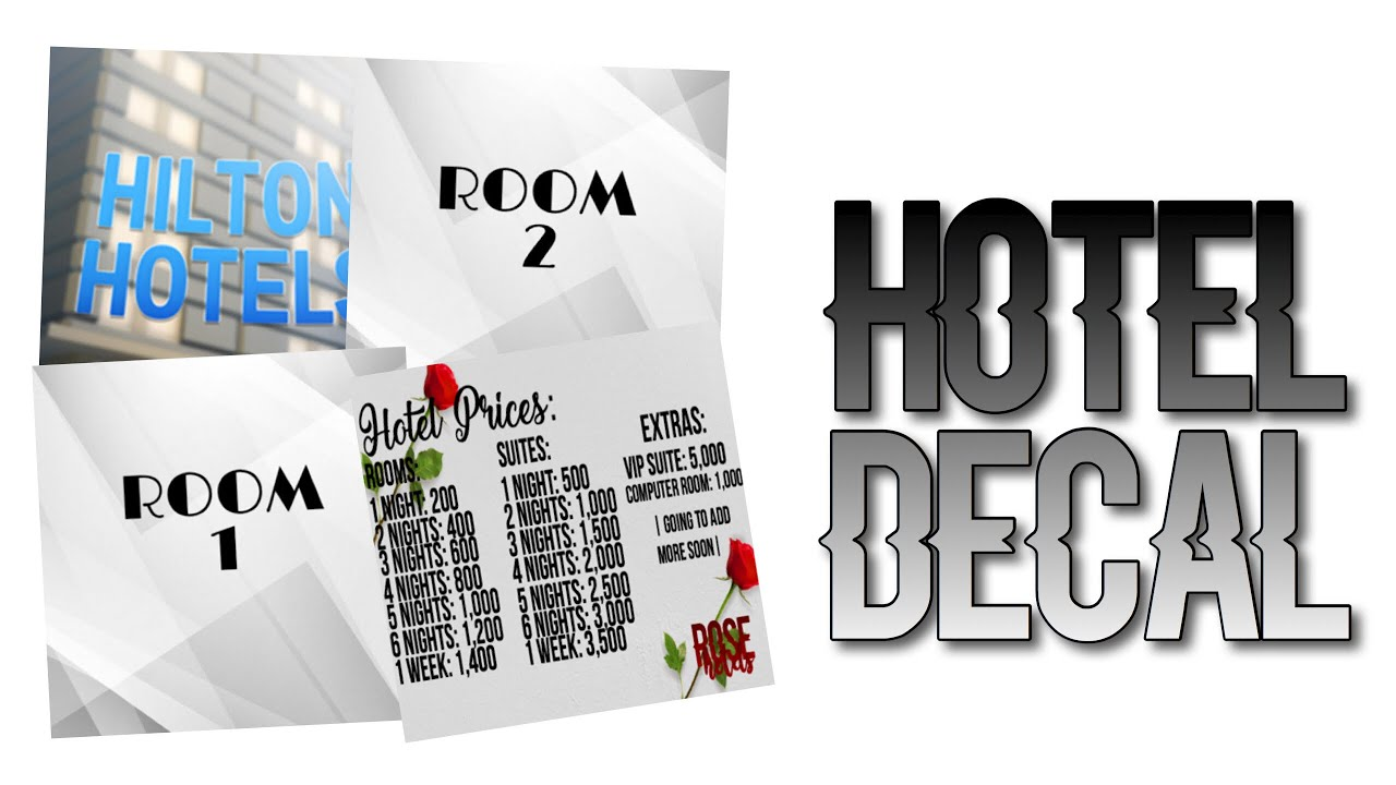 Roblox Cape Decals Roblox Bloxburg Hotel Decal Id S Youtube