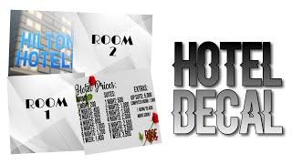 Roblox Bloxburg - Hotel Decal Id's