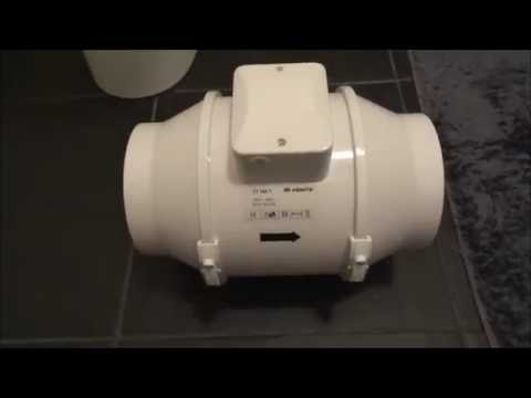 Stop Steam In A Bathroom By Fitting A High Powered Inline Fan Extraction Rate 552m3/h