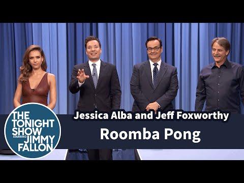 Roomba Pong with Jessica Alba and Jeff Foxworthy