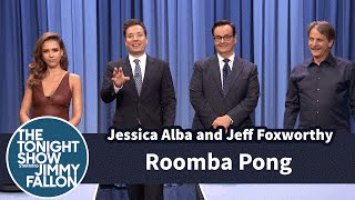 Roomba Pong with Jessica Alba and Jeff Foxworthy by : The Tonight Show Starring Jimmy Fallon