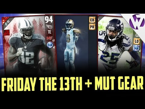 FRIDAY THE 13TH MOST FEARED CARDS!! + NEW DUAL CHEMISTRY MUT GEAR SETS! & FOOTBALL OUTSIDERS SHERMAN