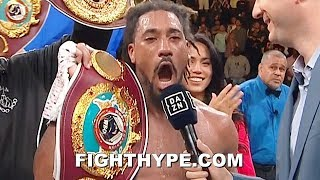 """DEMETRIUS ANDRADE SAVAGELY ASKS CANELO """"WHERE YOUR COJONES AT"""" SECONDS AFTER DOMINATING SULECKI"""