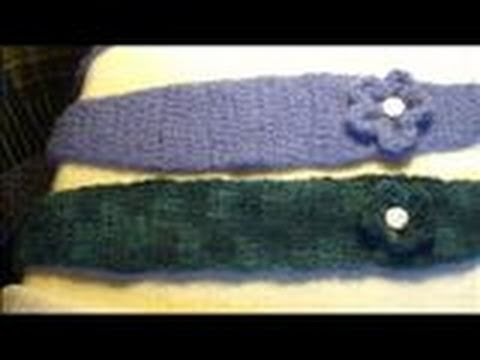 How to Crochet and Felt a Headband With a Flower Day 48 - YouTube