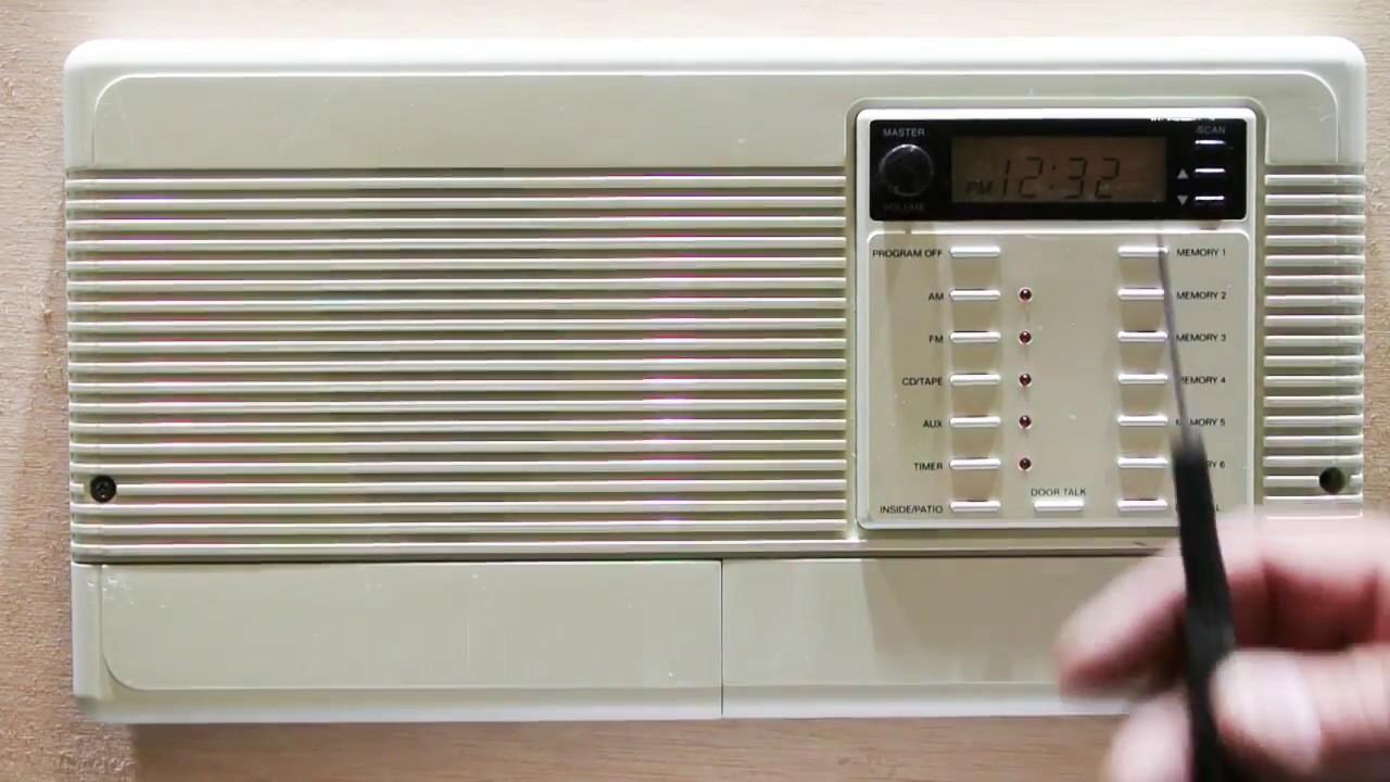 Basic Troubleshooting Of A Nutone Im3303 And Ima3303 Radio Intercom System Youtube