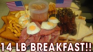 WORLD'S BIGGEST BREAKFAST CHALLENGE vs Team UK!!