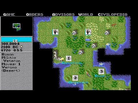 Sid Meier's Civilization 1 - 4K GAMEPLAY