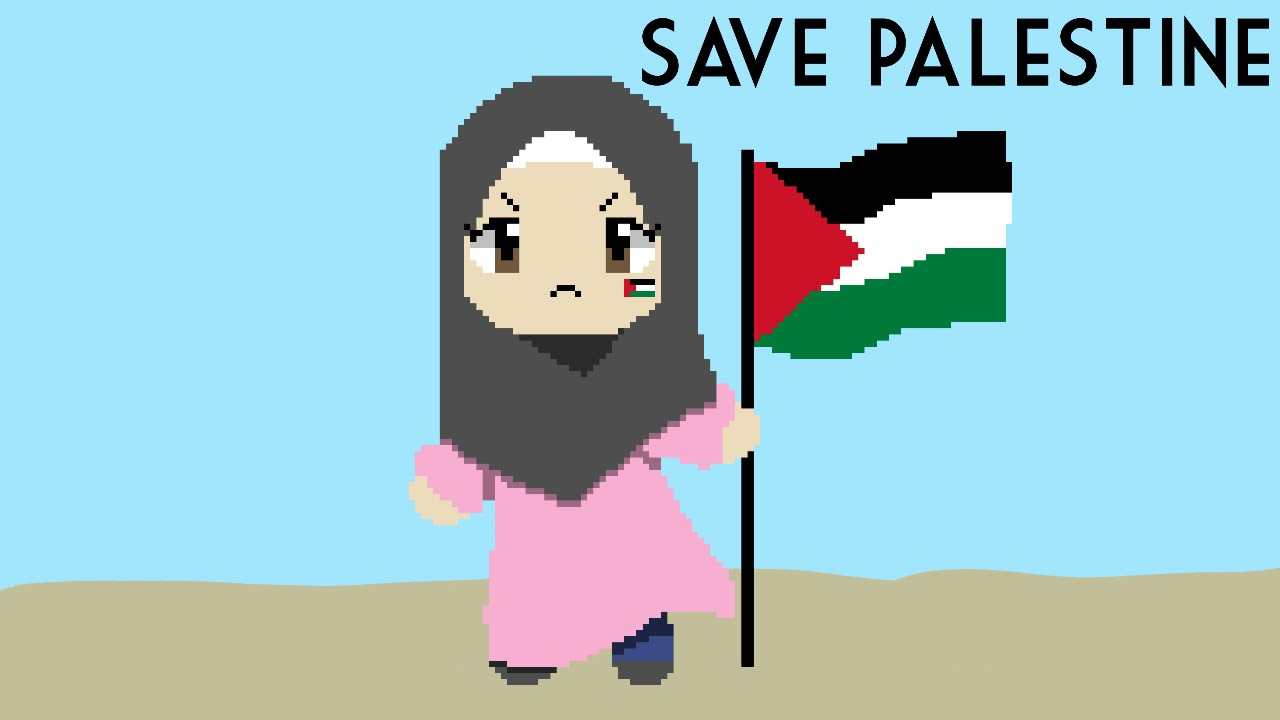 Save Palestine (Loop)   Flipaclip and pixel studio