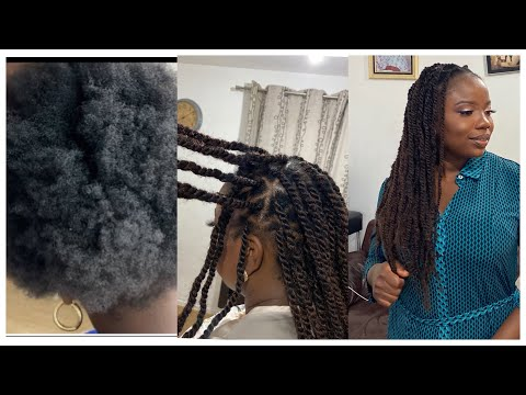 how-to-:-do-marley-twist-|-triangle-hair-parting