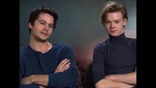 Death Cure - French Interviews (english sub)  Dylan, Thomas, Kaya & Wes speak french 2018