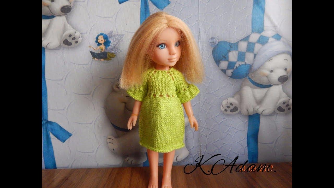 одежда для кукол спицами платье простушка Youtube