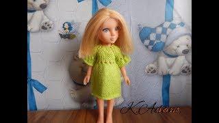 """Одежда для кукол спицами. Платье """"Простушка"""""""