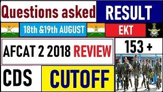 AFCAT 2 2018 review | AFCAT 2 2018 Cutoff | questions asked | result date | AFCAT 2 2018